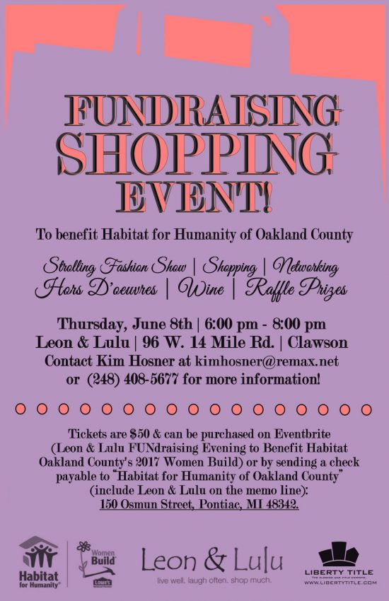 2017 Leon & Lulu FUNdraiser | Habitat for Humanity of Oakland County