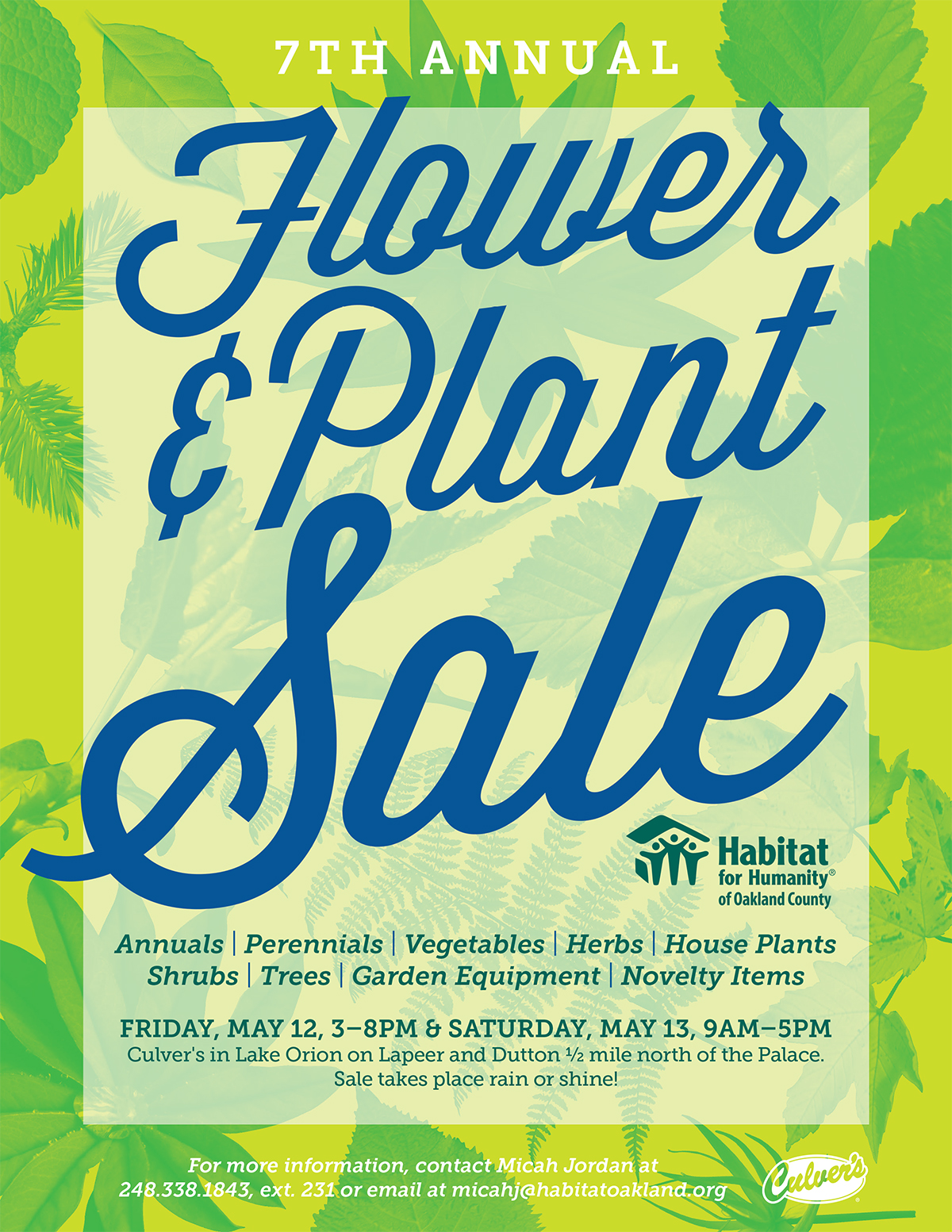 7th Annual Flower & Plant Sale