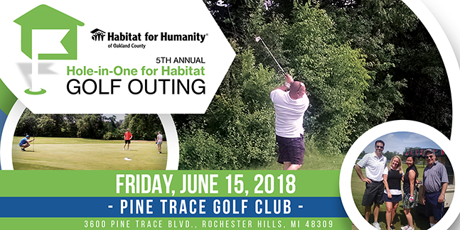 5th Annual 'Hole in One for Habitat' Golf Outing