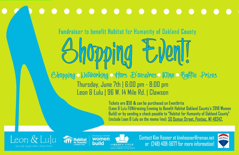 Leon & Lulu Shopping Event