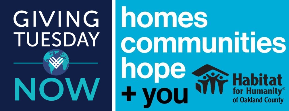 #GivingTuesdayNow: Homes, Communities, Hope + You